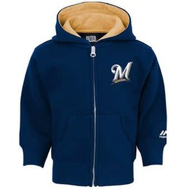 Milwaukee Brewers Toddler full zip hoodie