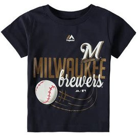 Milwaukee Brewers Toddler short sleeve tee with baseball on it