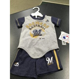 Milwaukee Brewers Newborn short and tee set