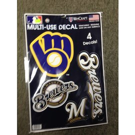 Milwaukee Brewers multi use 4 Pack decals