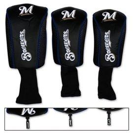 Milwaukee Brewers mesh 3 pack headcovers