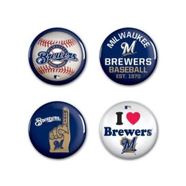 Milwaukee Brewers 4 pack buttons