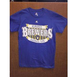 Milwaukee Brewers Men's Royal Circus Logo Short Sleeve tee