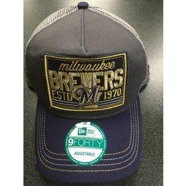 Milwaukee Brewers 9-40 Trucker Tear Adjustable Hat