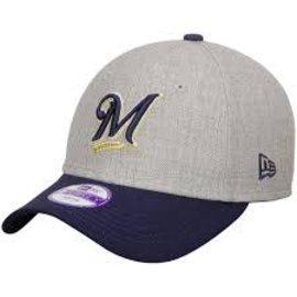 Milwaukee Brewers League Heather Adjustable Hat