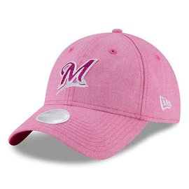Milwaukee Brewers Women's Mom Day Pink 9-20 Team Glisten Adjustable Hat