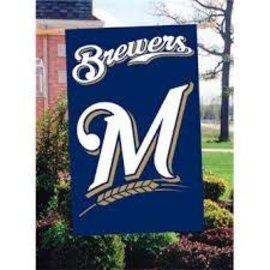 Milwaukee Brewers Applique Banner flag - M logo