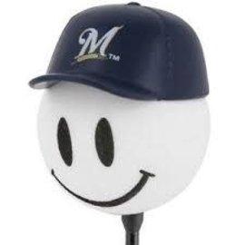 Milwaukee Brewers baseball hat antenna topper