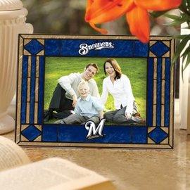 Milwaukee Brewers art glass horizontal picture frame