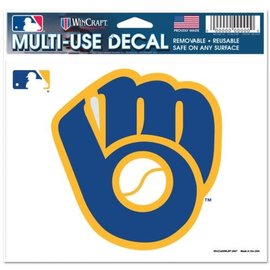 Milwaukee Brewers multi-use colored decal 5x6