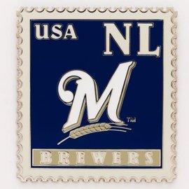 Milwaukee Brewers Stamp pin
