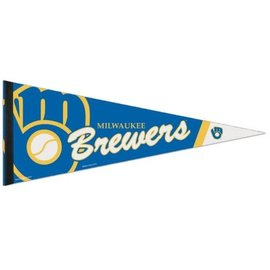 Milwaukee Brewers 12x30 Premium pennant - Ball and Glove logo