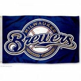 Milwaukee Brewers 3x5 Flag - Circle Logo