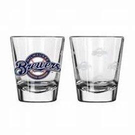 Milwaukee Brewers 2oz Shot Glass with Circle Logo