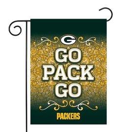 Green Bay Packers Go Pack Go Garden Flag