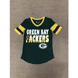 Green Bay Packers Youth Girls Poly Mesh Jersey Short Sleeve Tee