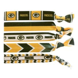 Green Bay Packers Knotted Hair Ties