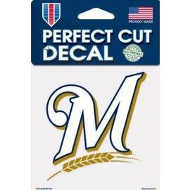 Milwaukee Brewers 4X4 Perfect Cut Decal-M Logo