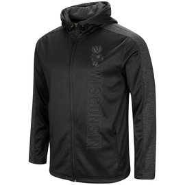 Wisconsin Badgers Men's The Search Continues Blackout Full Zip Hoodie
