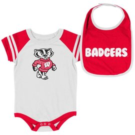 Wisconsin Badgers Infant Roll Out Onesie and Bib Set