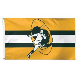 Green Bay Packers Deluxe 3x5 Flag Retro Logo