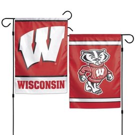 Wisconsin Badgers 2 Sided Garden Flag