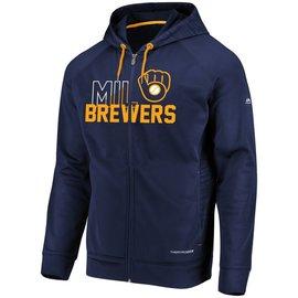 Milwaukee Brewers Men's Chin Music Full Zip Hoodie