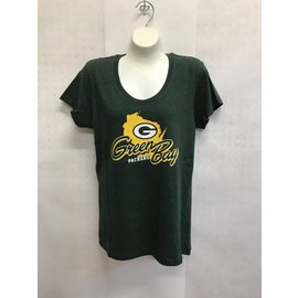 '47 Brand Green Bay Packers Women's Regional Scoopneck Tee