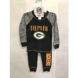 Green Bay Packers Infant Cotton Pajama Set