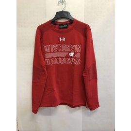 Wisconsin Badgers Men's Threadborne Ridge Fleece Crewneck Sweatshirt