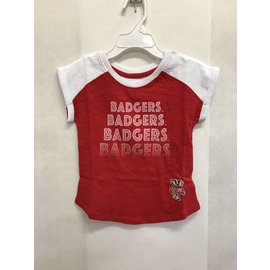 Wisconsin Badgers Toddler Girls Go Kart Cuffed Short Sleeve Tee