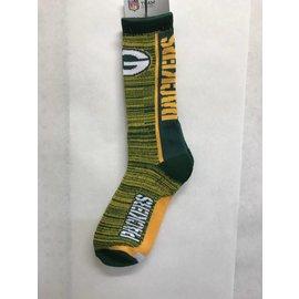 Green Bay Packers Men's Bar Stripe Vert Socks Large
