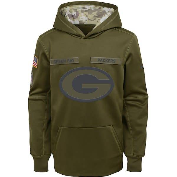 new style 491ae 51f6e green bay packers salute to service hoodie