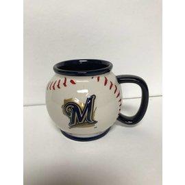 Milwaukee Brewers 15 oz Baseball Shaped Coffee Mug