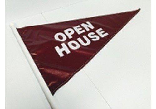 Flag - Open House - Burgundy