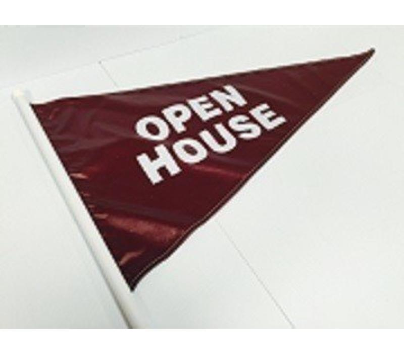Flag - Open House - Burgundy