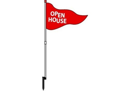 Flag - Open House - Red