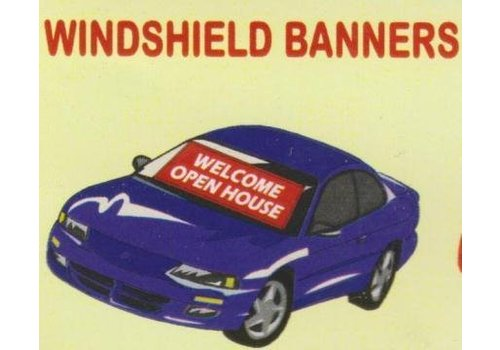 Banner - Windshield - Open House - Red