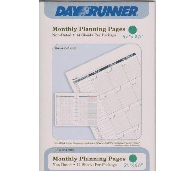Planner Insert - Calendar - Month - Sm