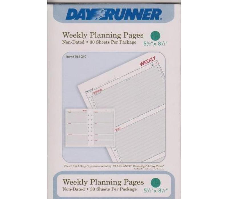 Planner Insert - Calendar - Week - Sm