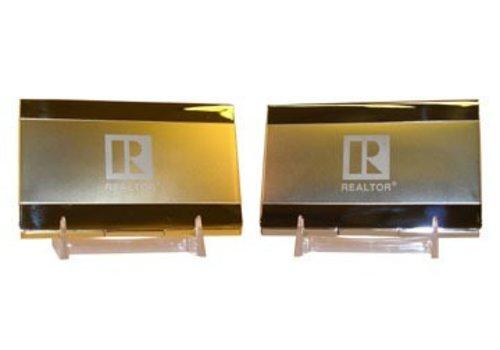 Realtor R Business Card Holder - Chrome