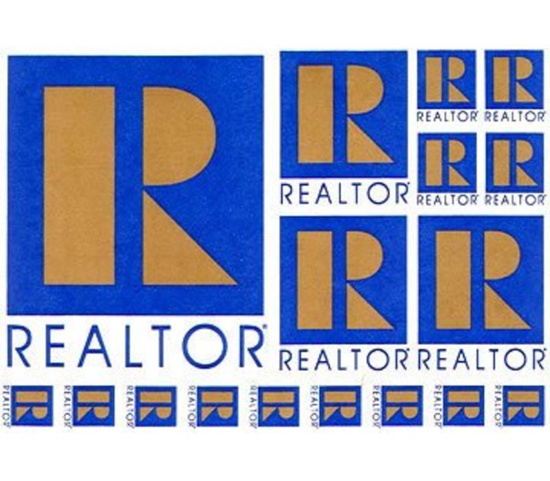 Realtor R Decal Sheet - Die Cut