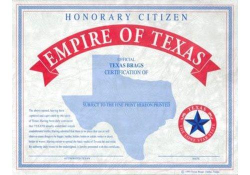 Texas Citizen Certificate