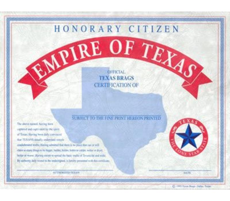 Texas Citizen Certificate