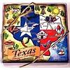 Coasters - Texas Map - Wood
