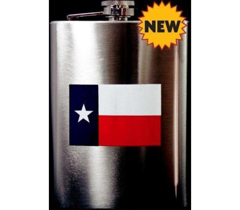 Flask - Texas Flag - Chrome