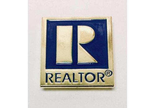 Realtor R Pin - Gold - Large