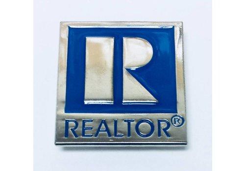 Realtor R Pin - Silver - Large