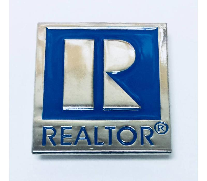 Realtor R Pin - Silver - Large