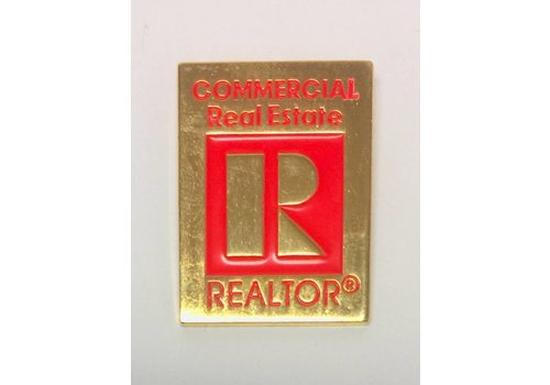 Realtor R Pin -  Commercial - Gold - Large